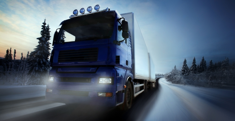 5049874-truck-driving-on-country-road